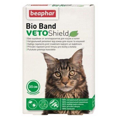 Beaphar ошейник от блох и клещей Bio Band для кошек и котят, 35 см ошейник для кошек beaphar от блох и клещей 35см