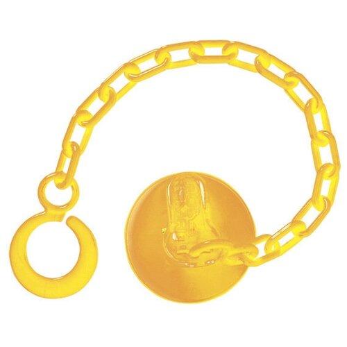 Купить Держатель пустышки Пома 1217 0 м (1 шт.) желтый, Пустышки и аксессуары