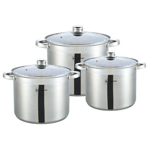 Набор кастрюль Rainstahl 1631-06RS\CW 6 пр. стальной набор посуды rainstahl 6 предметов 1616 06rs cw