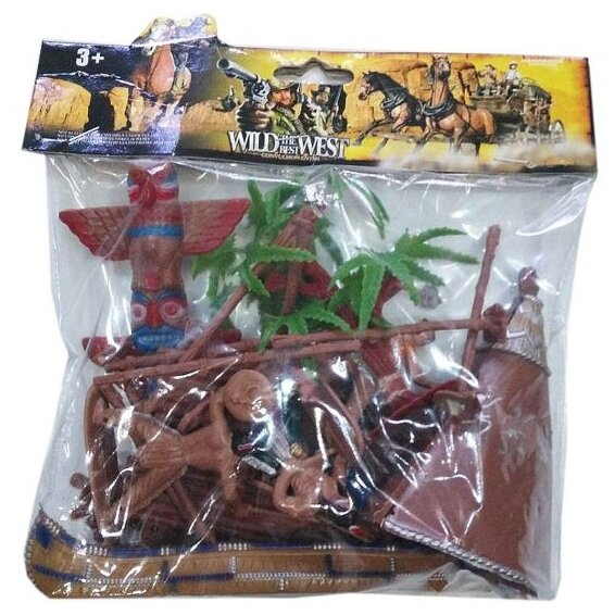 Набор фигурок Shantou Gepai Индейское племя 635460