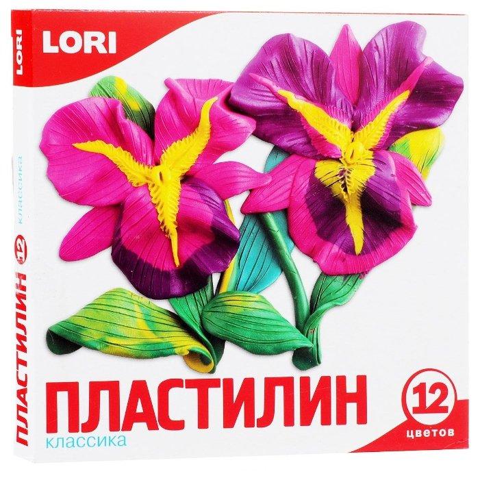 Пластилин LORI Классика 12 цветов (Пл-007)