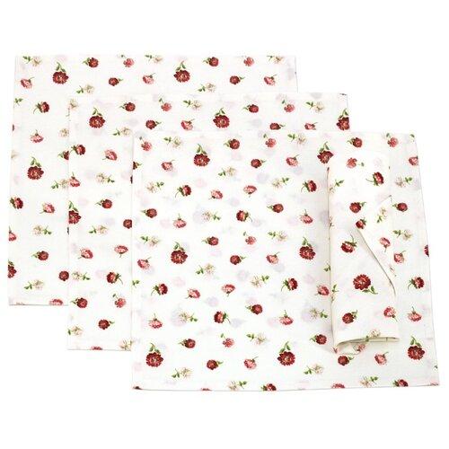 Салфетка Kauffort Karen 32х32 см красные цветы