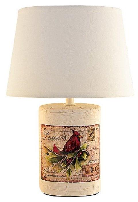 Настольная лампа Lucia Птица Кардинал 320