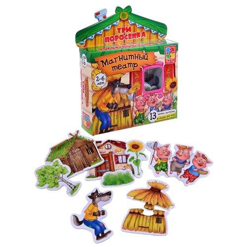 Купить Vladi Toys Магнитный театр Три поросёнка (VT3206-11), Кукольный театр