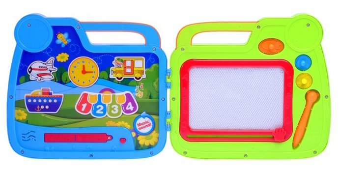Доска для рисования детская Junfa toys Kids Magic 2 в 1 в чемоданчике (628-39)