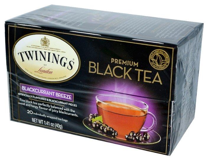 Чай черный Twinings Blackcurrant в пакетиках