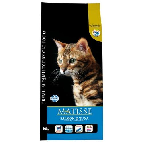 Корм для кошек Farmina Matisse с лососем, с тунцом 10 кг корм консервированный для кошек farmina matisse мусс с ягненком 85 г