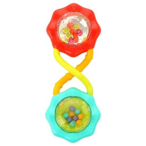 Купить Погремушка Bright Starts Веселые шарики красный/голубой, Погремушки и прорезыватели