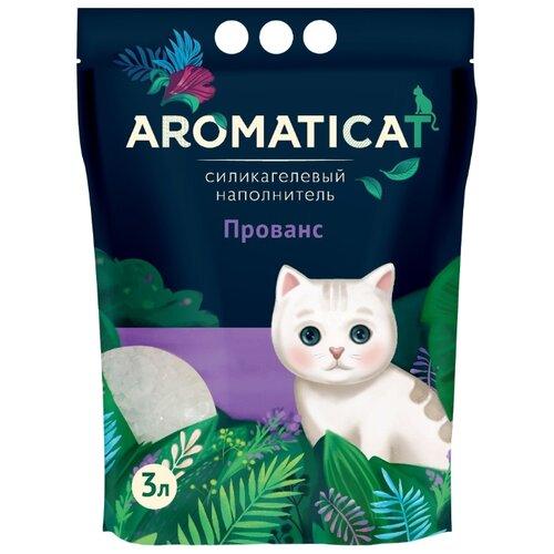 Впитывающий наполнитель AromatiCat силикагелевый Прованс 3 л впитывающий наполнитель glamour cats силикагелевый антибактериальный 3 8 л 1 7 кг