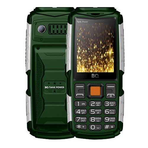 Телефон BQ 2430 Tank Power зеленый телефон