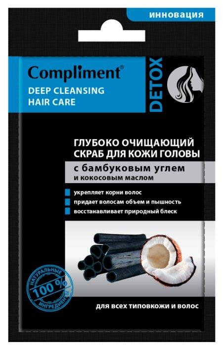 Compliment Глубоко очищающий скраб для кожи головы с микрогранулами бамбукового угля и кокосовым маслом