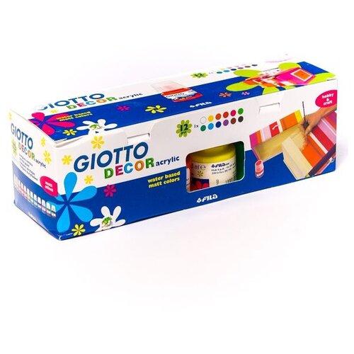 Купить GIOTTO Акриловые краски 12 цветов х 25 мл (530600), Краски