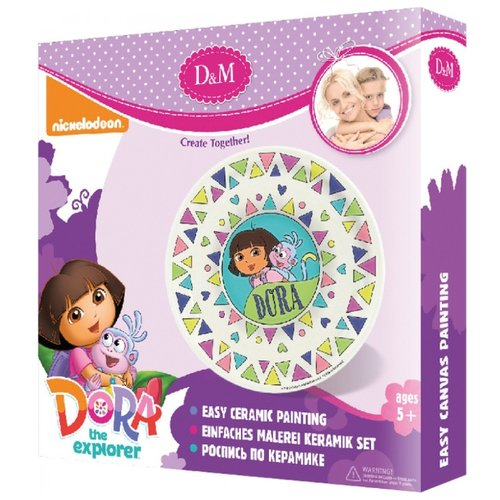 Купить D&M Набор для росписи керамики тарелка Даша и Башмачок Dora (65120), Роспись предметов