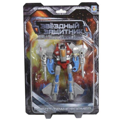 Трансформер 1 TOY Звездный защитник Истребитель серо-красно-голубой трансформер 1 toy звездный защитник космолет красный черный