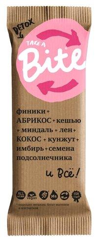 Фруктовый батончик Bite Detox без сахара Абрикос и миндаль, 45 г