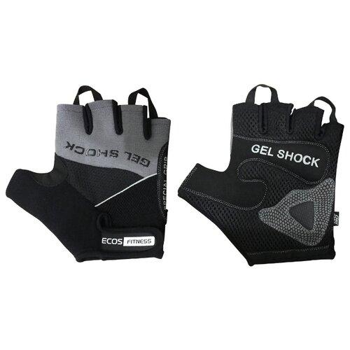 Перчатки ECOS Fitness 2117 черный/серый L