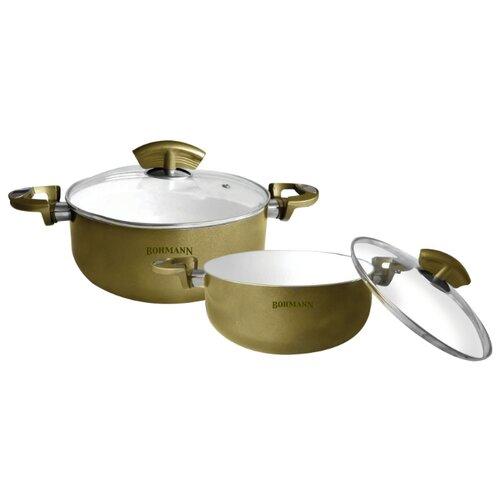 Набор кастрюль Bohmann 6002BHWCR 4 пр. золотой
