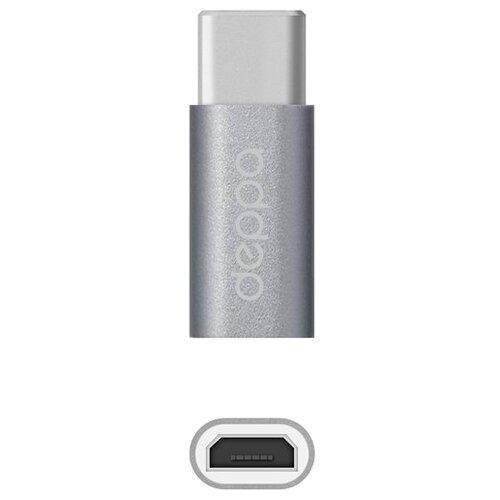 Купить Переходник Deppa microUSB - USB Type-C (73116/73114) графит