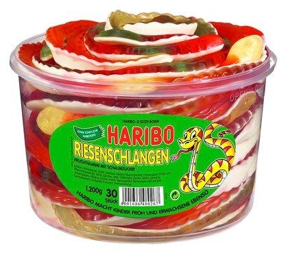 Мармелад жевательный Haribo Змейки пл/бан. (40г x 30) Германия
