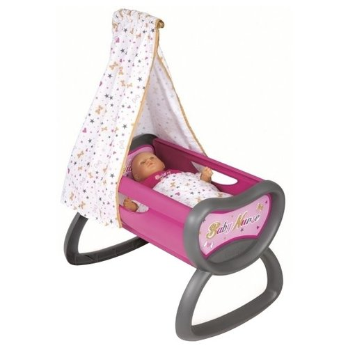 Smoby Кроватка для куклы Baby Nurse (220311) розовый/серый/белыйМебель для кукол<br>