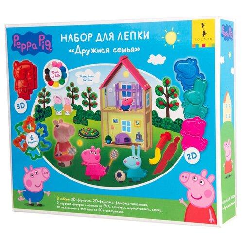 Масса для лепки РОСМЭН Свинка Пеппа 10 цветов по 60г (33518) масса для лепки росмэн свинка пеппа 10 цветов по 60г 33518