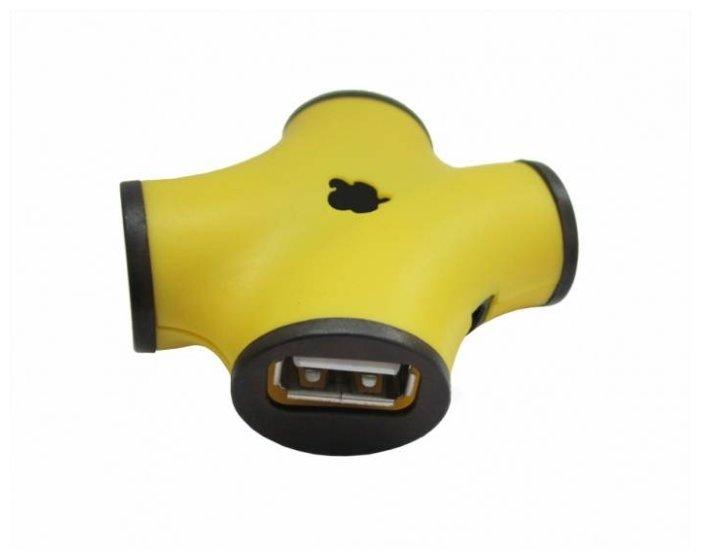 USB-концентратор CBR CH 100 USB 2.0, разъемов: 4