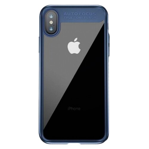 Чехол-накладка Baseus Suthin case для Apple iPhone X dark blue чехол аккумулятор baseus continuous backpack power bank для apple iphone x белый