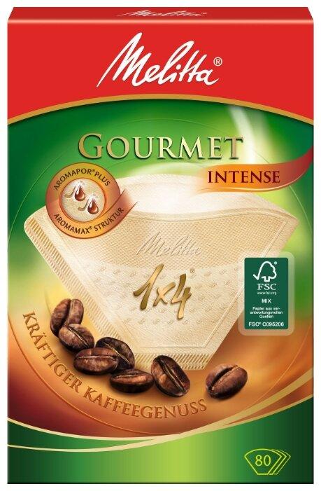Одноразовые фильтры для капельной кофеварки Melitta Gourmet Intense Размер 1х4