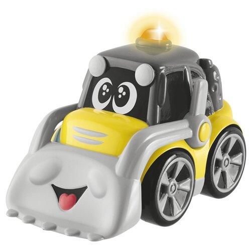 Купить Бульдозер Chicco Строитель Dozzy (00009354000000) 9.5 см серый/желтый, Машинки и техника