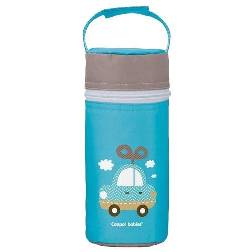 Купить Canpol Babies Термоконтейнер для бутылочки (69/008), голубой, Бутылочки и ниблеры