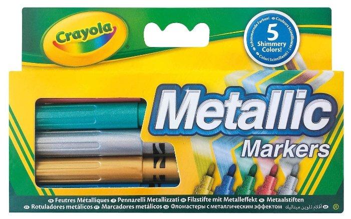 Crayola Фломастеры с металлическим эффектом 5 шт. (58-5054)