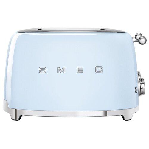 Тостер smeg TSF03PBEU, пастельный голубой smeg smf 01 pbeu голубой