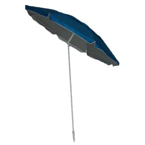 Зонт Green Glade 1281 купол 220 см, высота 215 см голубой/серебряный недорого