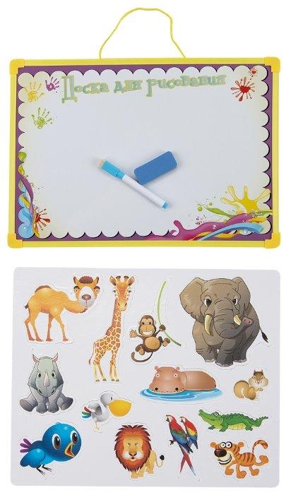Доска для рисования детская Donkey Toys с магнитными наклейками и аксессуарами (DT-R7113-C3)