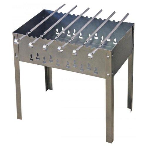 Мангал Grillkoff Стандарт стальной усиленный с 6 шампурами, с шампурами