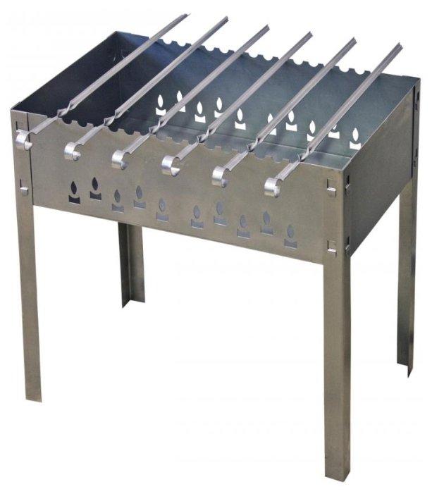 Мангал Grillkoff Стандарт стальной усиленный с 6 шампурами,