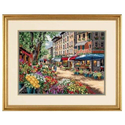 Купить Dimensions Набор для вышивания Рынок в Париже 38 х 28 см (35256), Наборы для вышивания