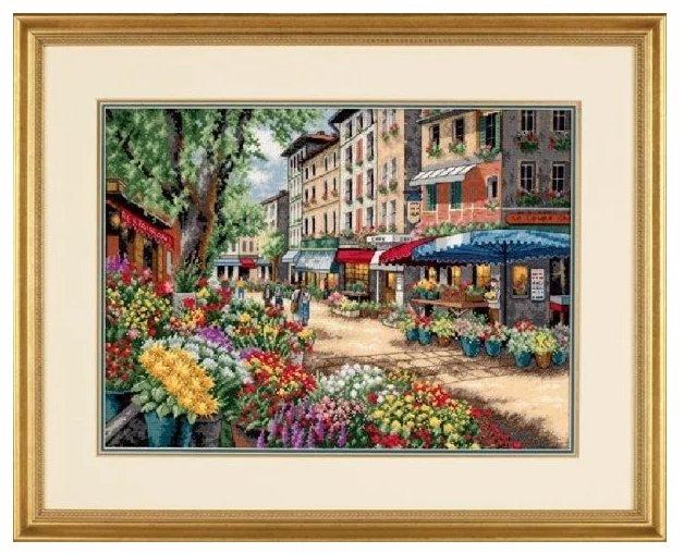 Dimensions Набор для вышивания Рынок в Париже 38 х 28 см (35256)