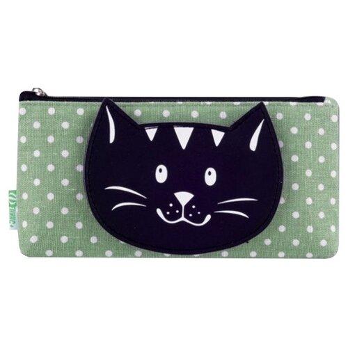 Купить Феникс+ Пенал-косметичка Черный кот (44141) серый/черный, Пеналы