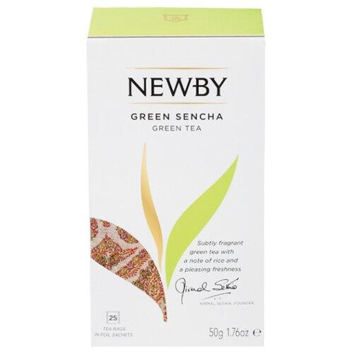 цены Чай зеленый Newby Green sencha в пакетиках , 50 г , 25 шт.