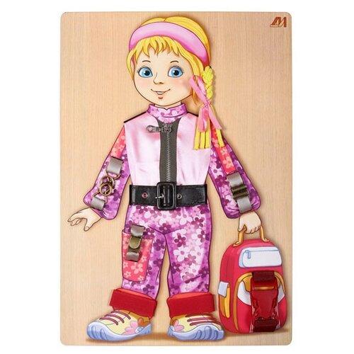 Бизиборд Деревянные игрушки Аленка бежевый/розовый