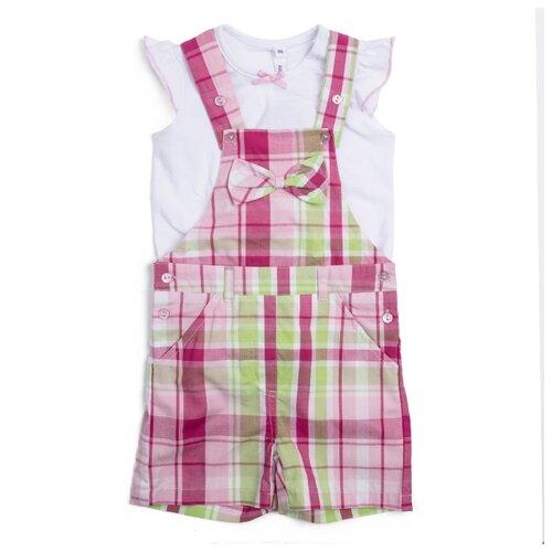 Комплект одежды playToday размер 92, белый, розовый, светло-зеленый комплект одежды playtoday размер 110 белый светло розовый