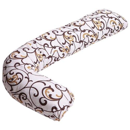 Наволочка Body Pillow на подушку для беременных L бежево-золотой