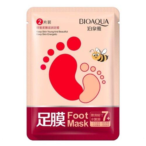 BioAqua Маска-носочки для ног медовая 35 г пакет пилинг скатка для ног bioaqua