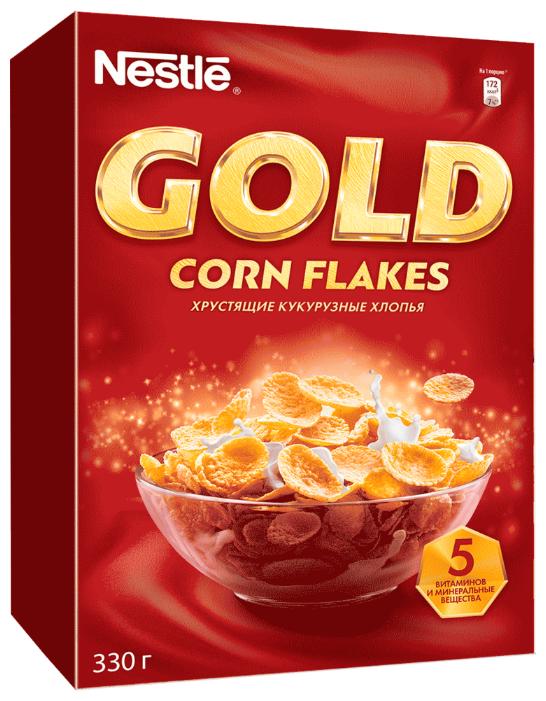 Nestle Gold кукурузные хлопья 330г