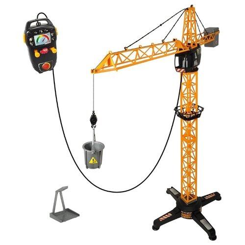 Купить Подъемный кран Dickie Toys Giant Crane (3462411) желтый, Радиоуправляемые игрушки