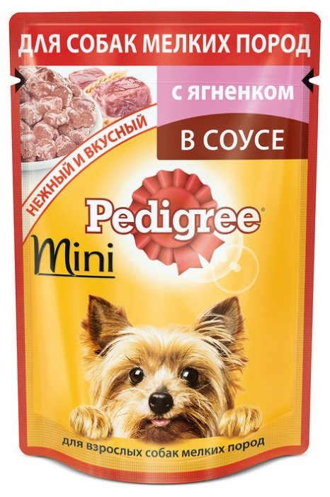 Корм для собак Pedigree для здоровья кожи и шерсти, для здоровья костей и суставов, ягненок 85г (для мелких пород)