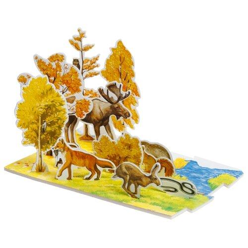 Пазл Умная Бумага Осень в лесу (094), 14 дет. умная бумага пазл для малышей ракета