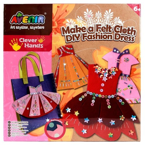 AVENIR Набор для поделок из ткани Модное платье (CH1308)Наборы для шитья<br>