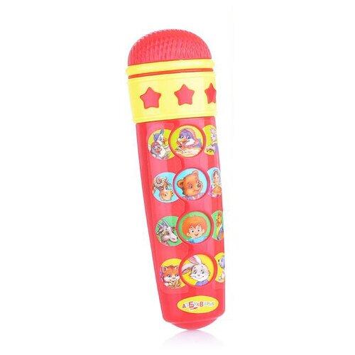 Азбукварик микрофон Караоке для малышей красный по цене 474